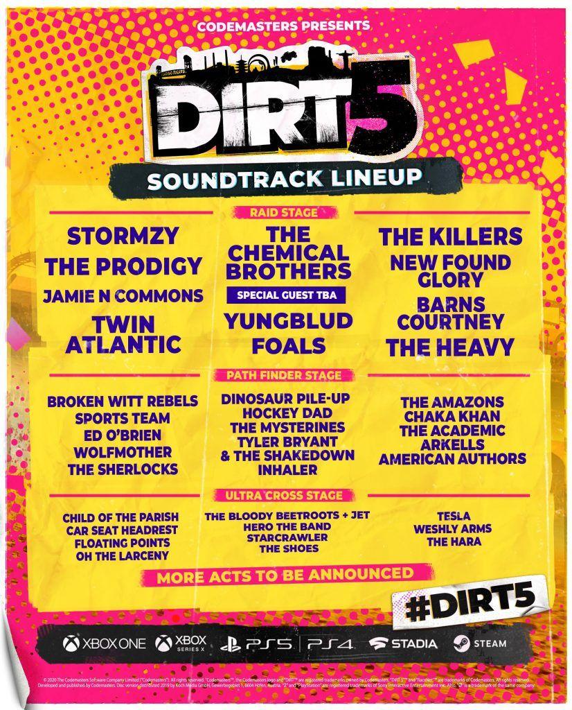 banda sonora oficial de dirt 5