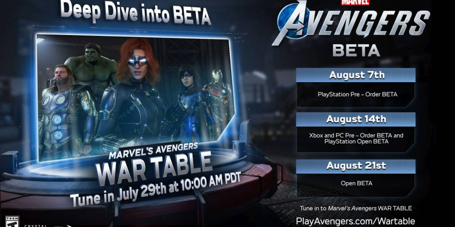 avengers war table