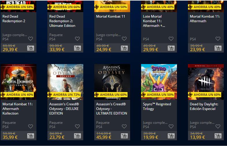 descuentos dobles de Playstation Store