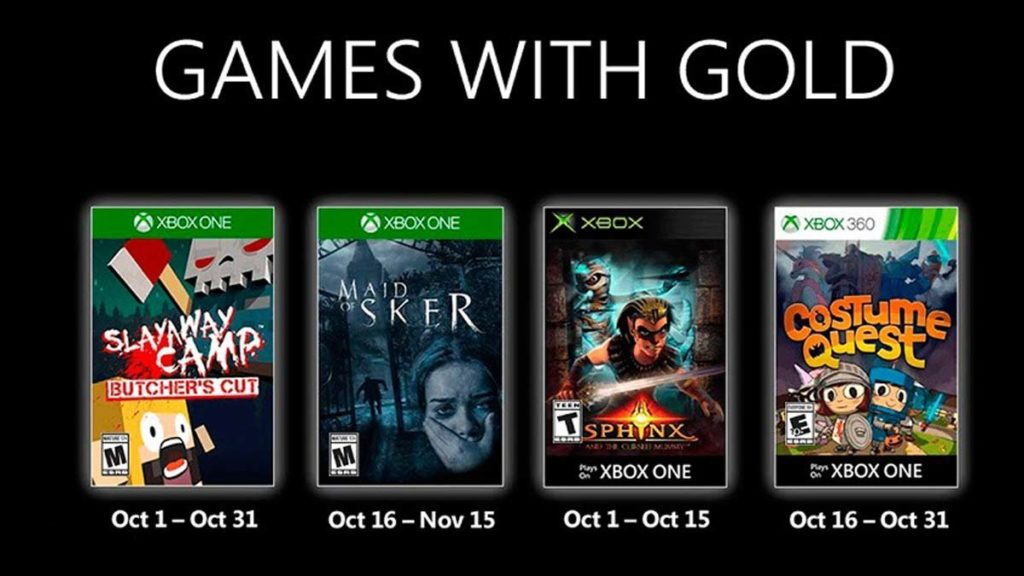 Games with Gold de octubre de 2020