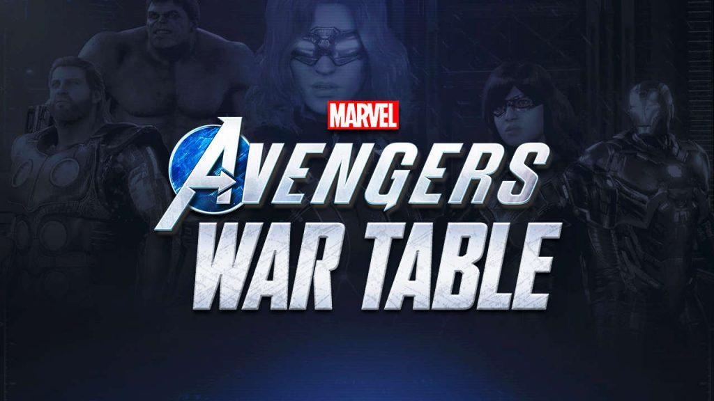 war table de marvel's avengers