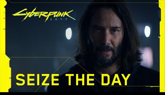 anuncio de Cyberpunk 2077 conKeanu Reeves