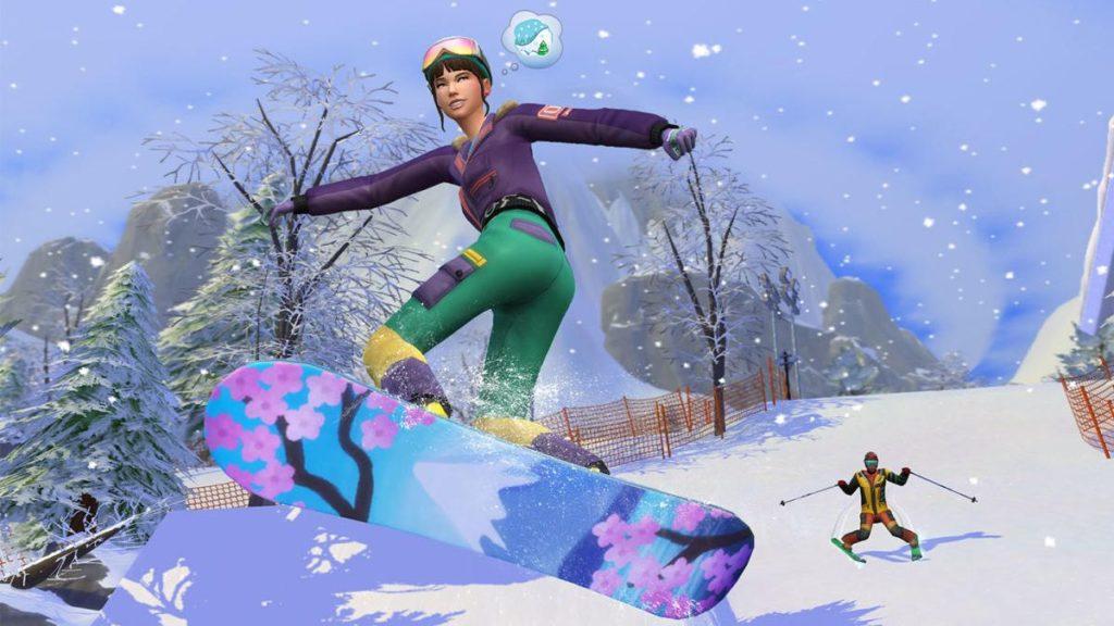 Haz click aquí para ver el tráiler de Los Sims 4 Escapada en la Nieve