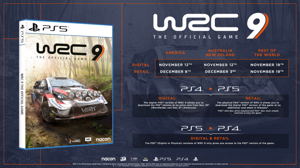 WRC 9 disponible en PlayStation 5 de lanzamiento