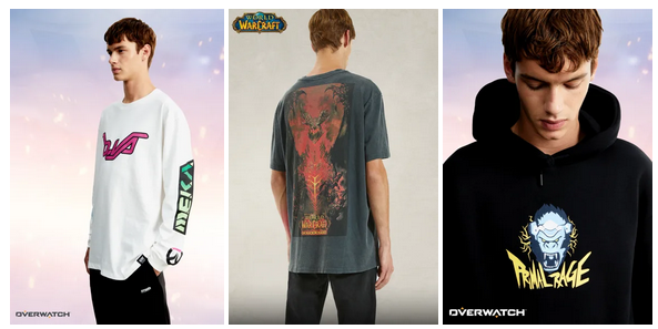 Blizzard Entertainment y Pull and Bear