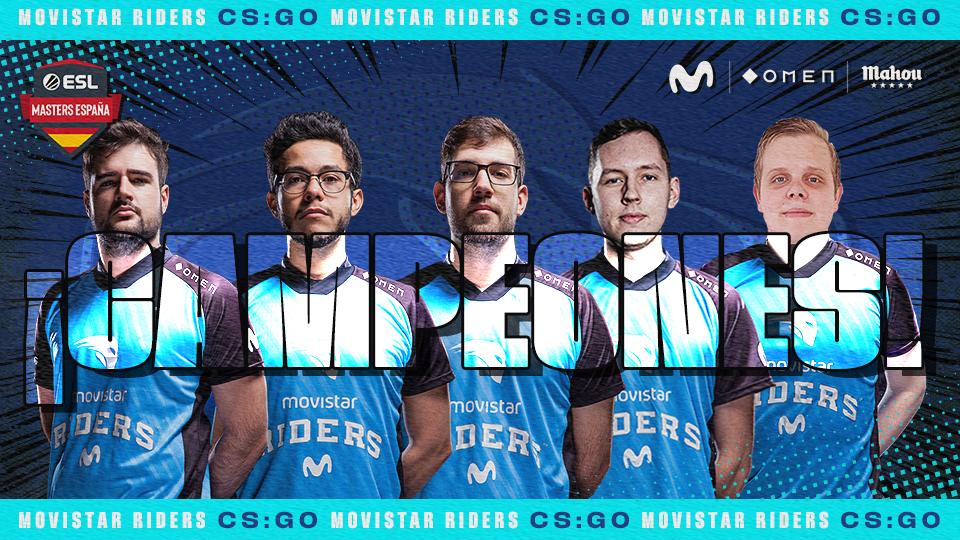 movistar riders gana 3º torneo