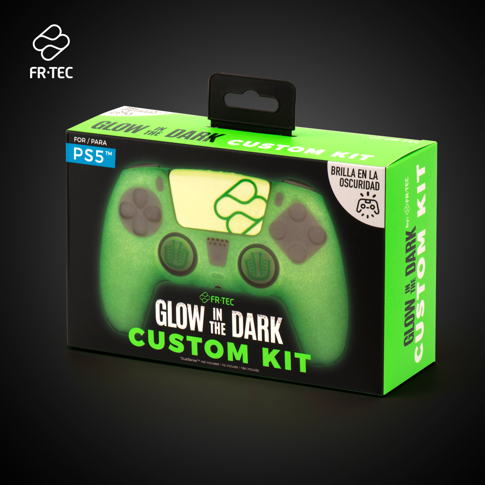 FT0036 PS5 Custom Kit Glow in the Dark Web 6