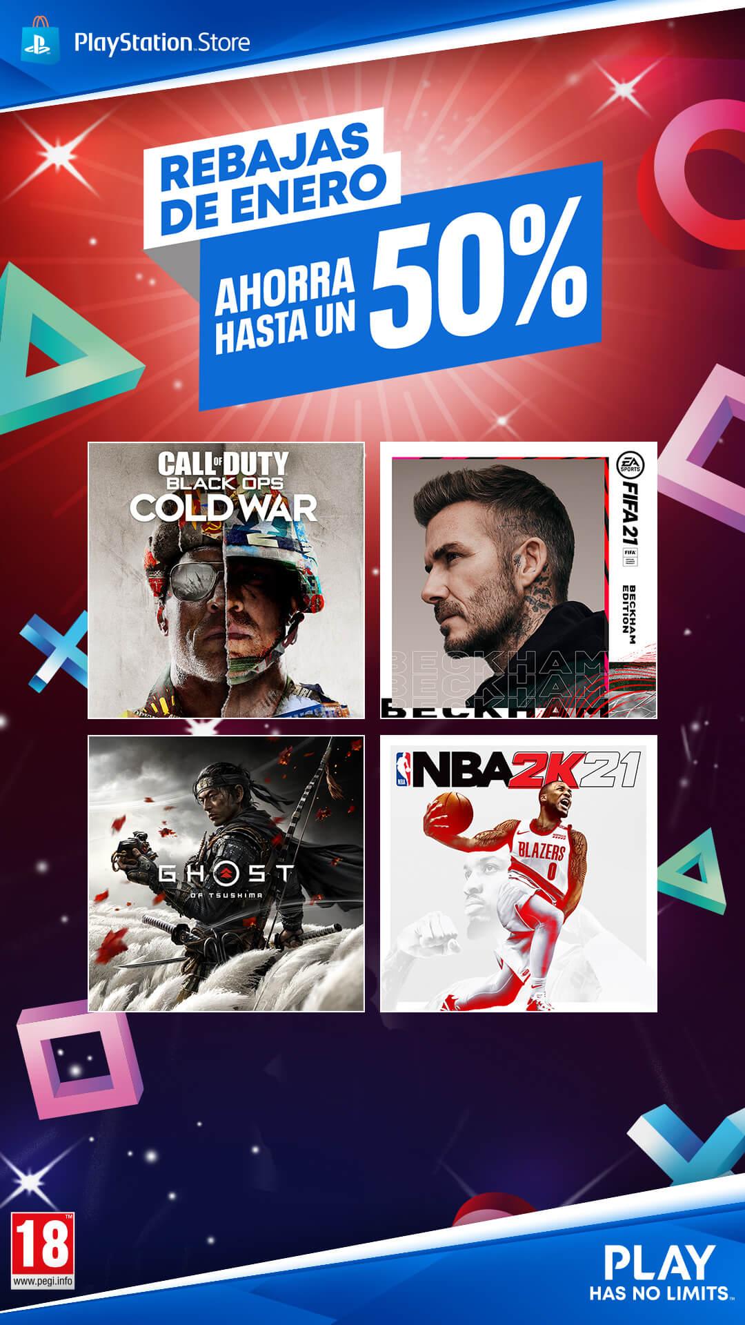 Rebajas de Enero en PlayStation