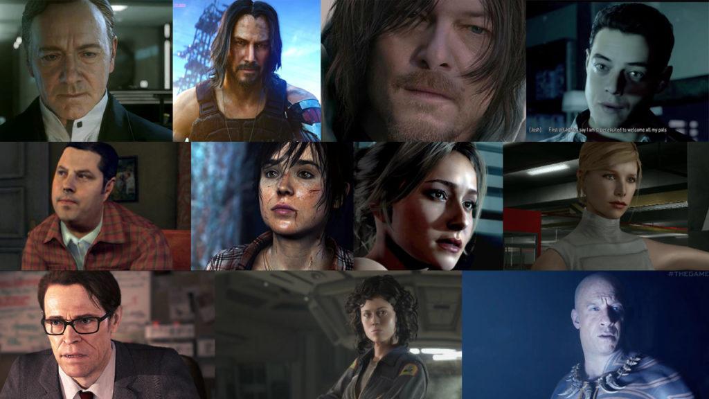 actrices y actores famosos en videojuegos