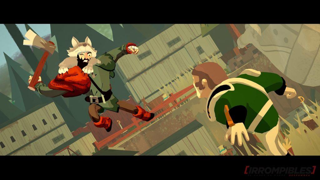 Escena que muestra el momento de un golpe de Mr. Wolf a punto de atacar a un enemigo.